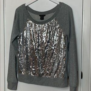 Moda international size Sm. Grey sweatshirt